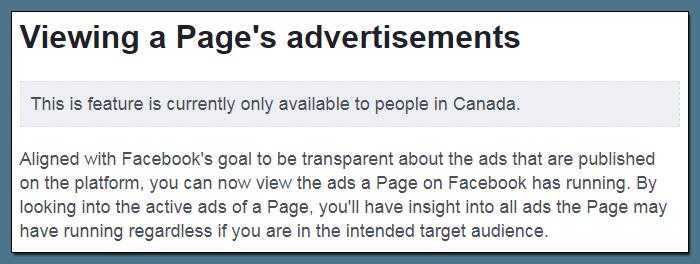 Facebook zeigt allen, welche Ads Pages schalten