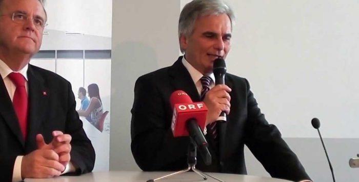 Bundeskanzler Werner Faymann und LH Hans Niessl an der FH Burgenland