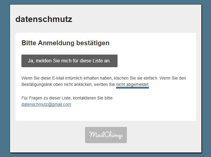 Wie man Mailchimp Mailinglisten auf Deutsch umstellt (Und sich damit einen ärgerlichen Übersetzungsfehler einhandelt)