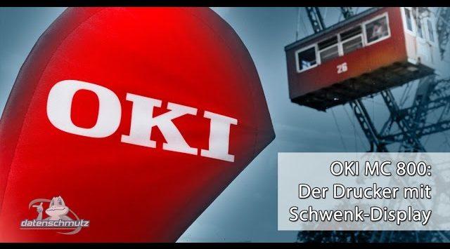 OKI Multifunktionsdrucker: Das Klapp-Display
