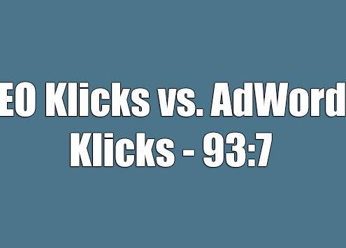 AdWords-Klicks vs. organische Klicks: SEO gewinnt mit 93:7
