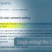 Google bereitet sich auf die DSGVO vor.