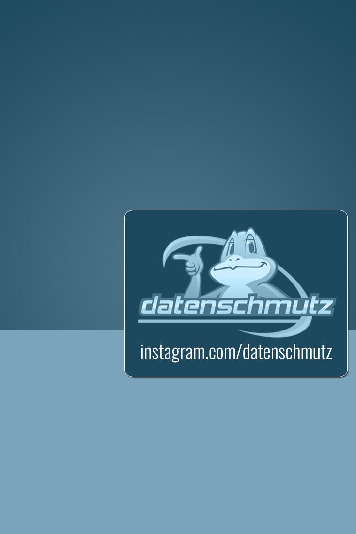 @datenschmutz auf Instagram