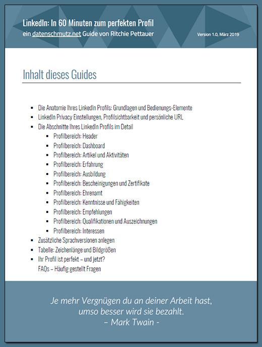 LinkedIn Profil Guide: Inhalt