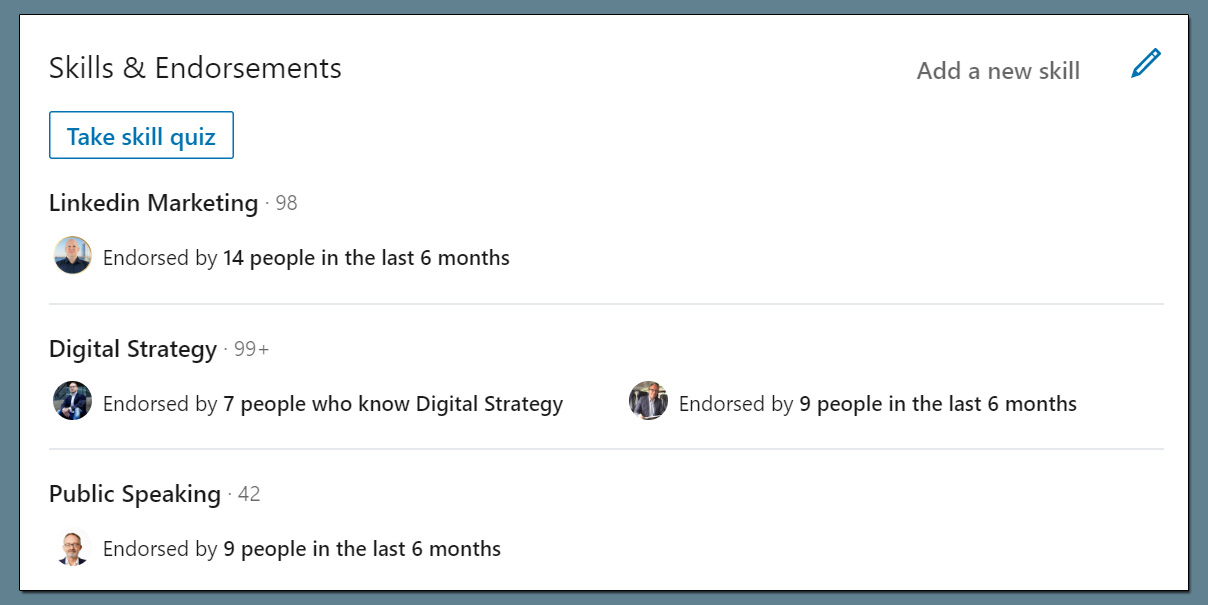 LinkedIn Skill Assessment Profil-Badge