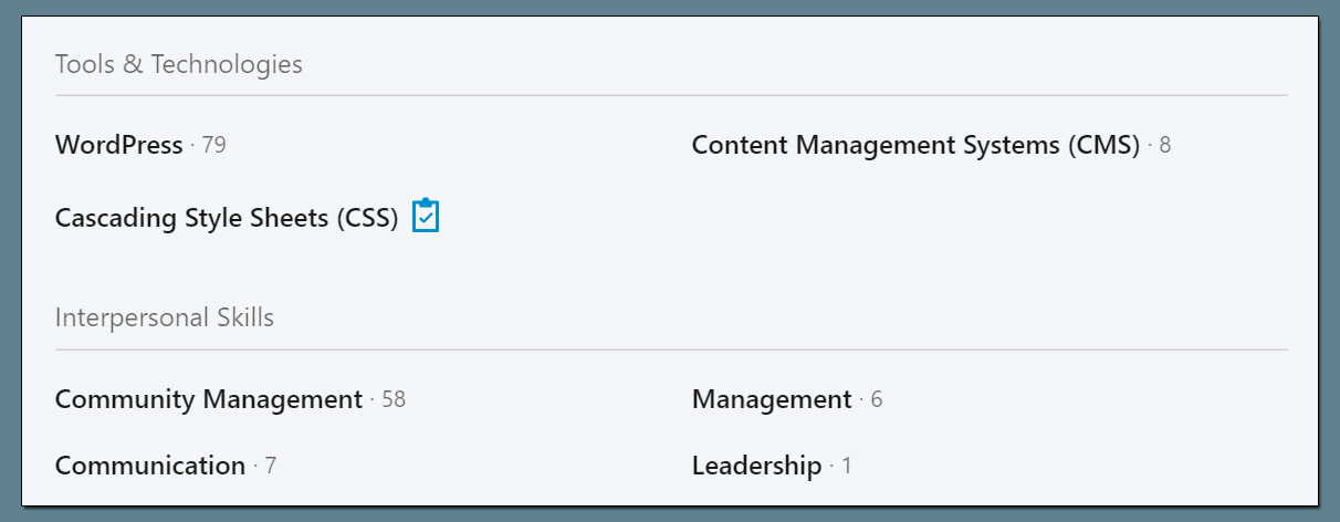 LinkedIn Skill Assessment Badge