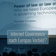 Tipping Point Talk mit Marietje Schaake