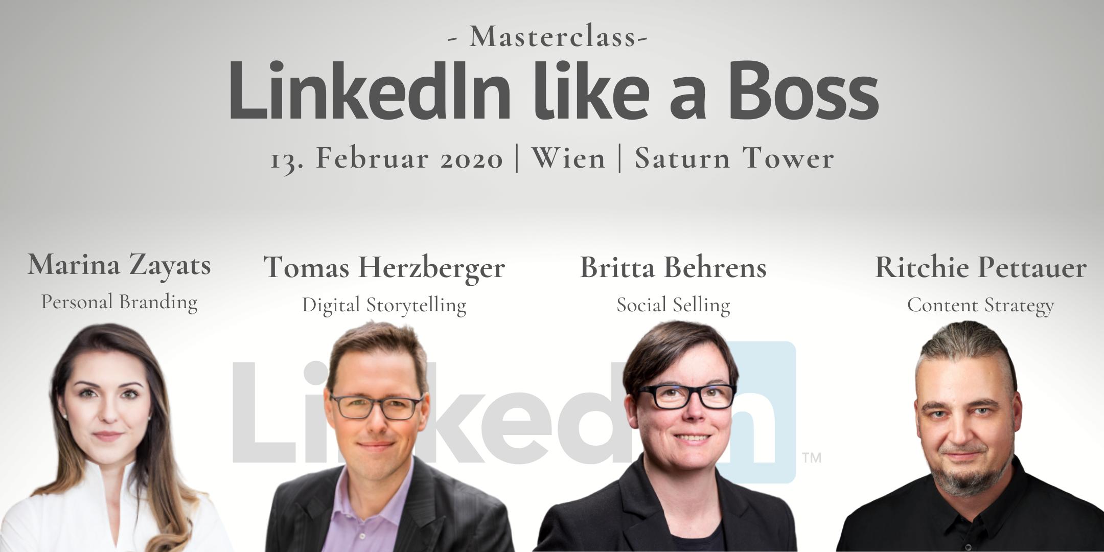 Masterclass: LinkedIn like a boss