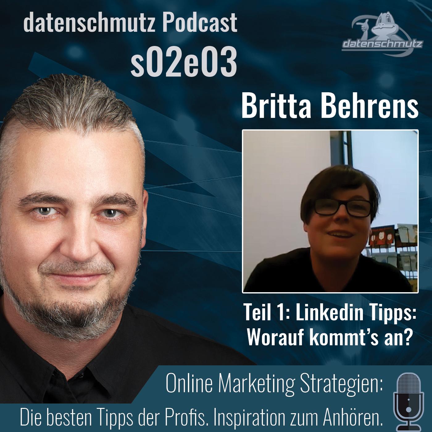Britta Behrens im datenschmutz Podcast - Social Selling