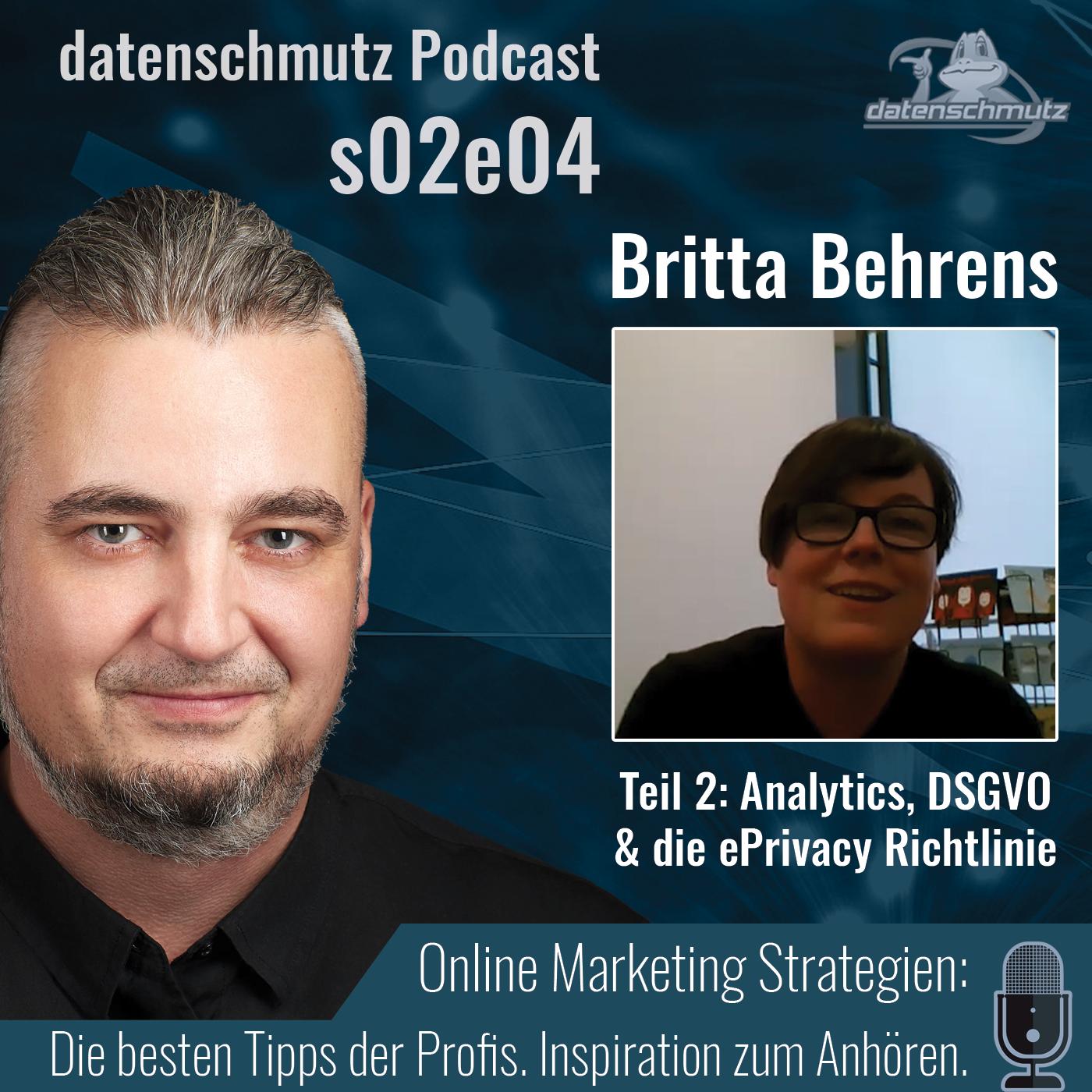 Britta Behrens im datenschmutz Podcast - Analytics