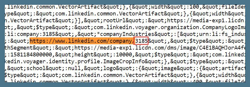 Wie finde ich die ID einer LinkedIn Company Page?