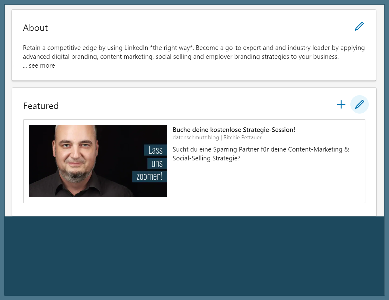 "LinkedIn: Die neue ""Featured"" Box aus Personal Branding Sicht"