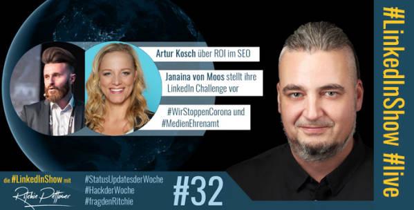 LinkedInShow #32 mit Janaina von Moos und Artur Kosch