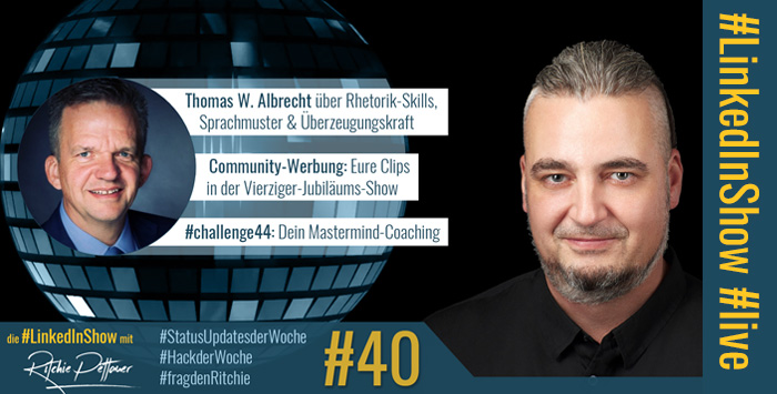 #LinkedInShow #40 mit Thomas W. Albrecht