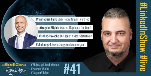 #LinkedInShow #41 mit Christopher Funk