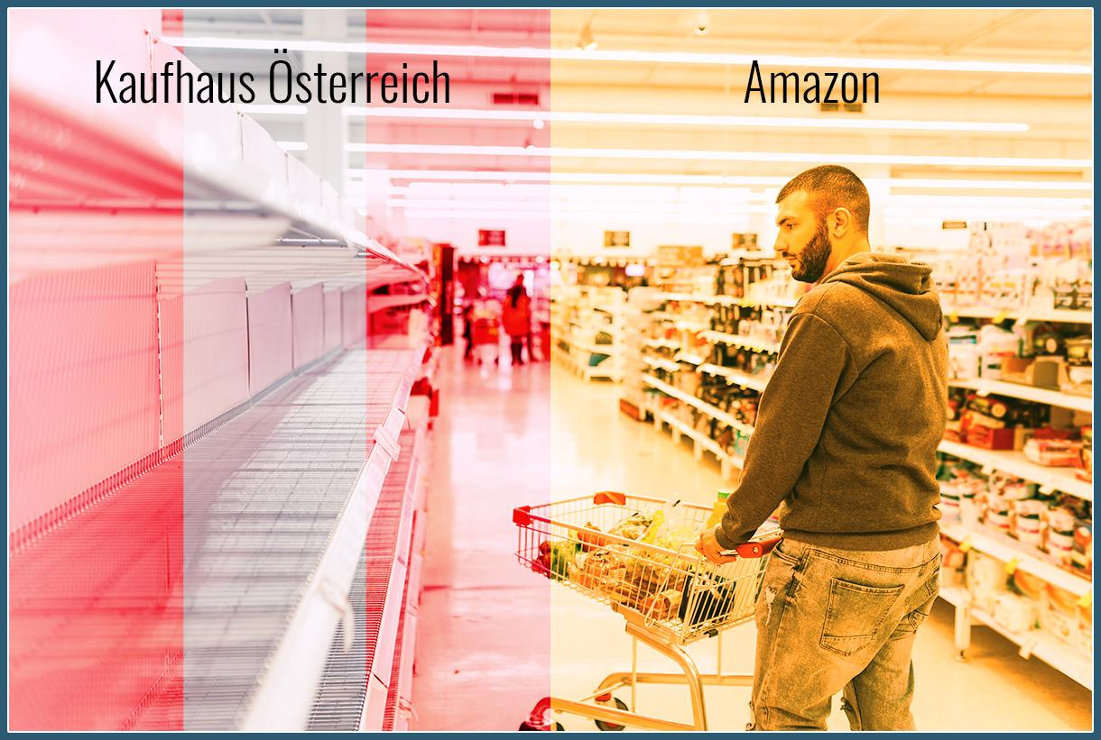 Leere Regale im Kaufhaus Österreich?